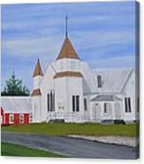 Peru Congregational Church Canvas Print