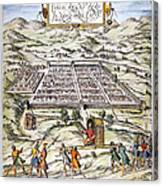 Peru: Cuzco, 1572 Canvas Print