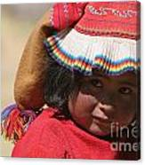 Peruvian Child Canvas Print