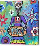 Pescadora Dia De Los Muertos Canvas Print