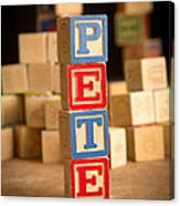 Pete - Alphabet Blocks Canvas Print