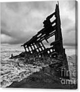 Peter Iredale Shipwreck Oregon 1 Canvas Print