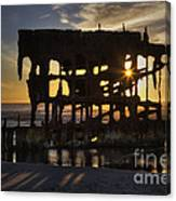 Peter Iredale Shipwreck Sunset Canvas Print
