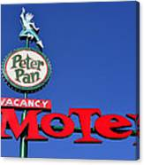 Peter Pan Motel Canvas Print