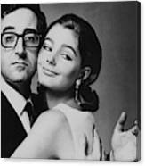 Peter Sellers Posing With A Model Canvas Print