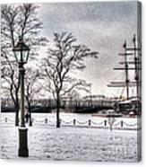 Peterburg Winter Canvas Print