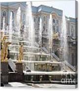 Peterhof Palace Fountains Canvas Print