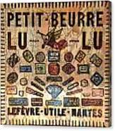 Petit- Beurre Lu Lu Canvas Print