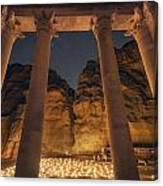 Petra Inside The Temple Canvas Print