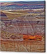 Petrified Log On Overlook Near Blue Mesa In Petrified Forest National Park-arizona   Canvas Print