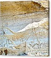 Petroglyphs At Petroglyph Point In Lava Beds Nmon-ca Canvas Print
