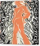 Petrograd Red Seventh November Revolutionary Poster Depicting A Russian Sailor Canvas Print