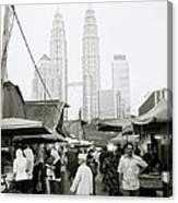 Petronas Over Kampung Baru Canvas Print