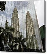 Petronas Reflecting Canvas Print