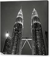 Petronas Towers At Night Canvas Print