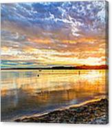 Pewaukee Vibrant Evening  Canvas Print