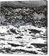 Pewter Martian Sea Canvas Print