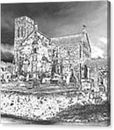 Pewter Skies Over The Kirk Canvas Print