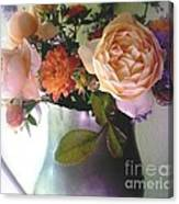 Pewter Vase With Bouquet Canvas Print