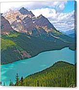 Peyto Lake Along Icefield Parkway In Alberta-canada Canvas Print