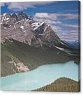 Peyto Lake And Caldron Peak Canvas Print