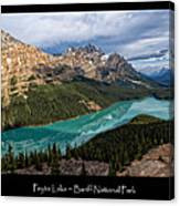Peyto Lake Poster Canvas Print
