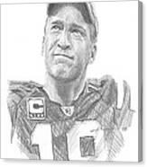 Peyton Manning Colts Farewell Pencil Portrait Canvas Print