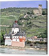 Pfalzgrafenstein With Burg Gutenfels  Canvas Print