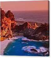 Pfeiffer Falls - Big Sur Ca Canvas Print