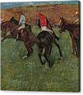 Pferderennen Vor Dem Start Canvas Print