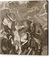 Phaeton Struck Down By Jupiter's Thunderbolt Canvas Print