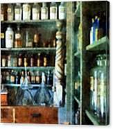 Pharmacy - Back Room Of Drug Store Canvas Print