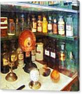 Pharmacy - Behind The Counter At The Drugstore Canvas Print