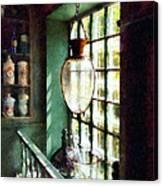 Pharmacy - Glass Mortar And Pestle On Windowsill Canvas Print
