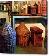 Pharmacy - Medicine Bottles And Baskets Canvas Print