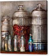 Pharmacy - Mysterious Pebbles Powders And Liquids Canvas Print