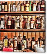 Pharmacy - The Medicine Shelf Canvas Print