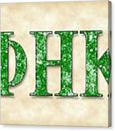 Phi Eta Kappa - Parchment Canvas Print