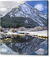 Phi Kappa Mountain Reflected In River Canvas Print