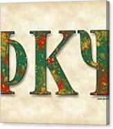 Phi Kappa Psi - Parchment Canvas Print