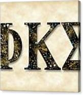 Phi Kappa Sigma - Parchment Canvas Print
