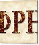 Phi Rho Eta - Parchment Canvas Print