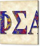 Phi Sigma Alpha - Parchment Canvas Print
