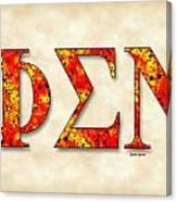 Phi Sigma Nu - Parchment Canvas Print