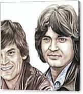 Phil And Don Everly Canvas Print