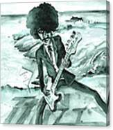 Phil Lynott In Howth Canvas Print