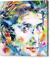 Phil Ochs - Watercolor Portrait Canvas Print