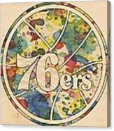 Philadelphia 76ers Retro Poster Canvas Print