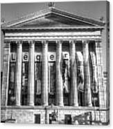 Philadelphia Art Museum Back 1 Bw Canvas Print