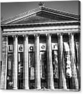 Philadelphia Art Museum Back 2 Bw Canvas Print